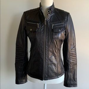 Like New Michael Kors Leather Jacket.